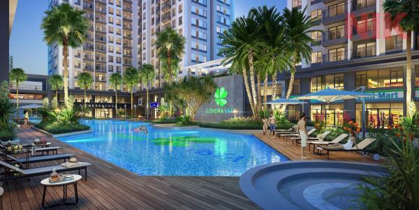 Khang Điền Bình Tân có hồ bơi rộng, siêu thị mini tiện lợi