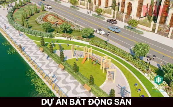 Vạn Phúc City có đường dạo bộ rộng, cây xanh mát mẻ