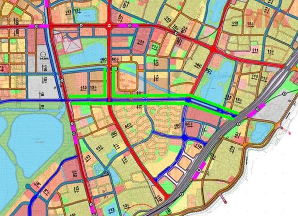 Bản đồ quy hoạch chi tiết quận Hoàng mai các tuyến đường liên đô thị