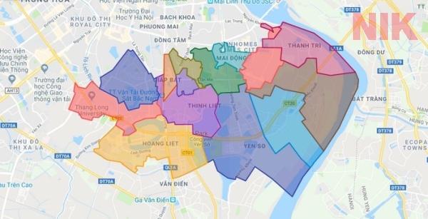 Bản đồ quy hoạch chi tiết quận Hoàng Mai, Hà Nội