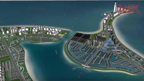 Khu đô thị du lịch lấn biển Cần Giờtrong bản đồ quy hoạch chi tiết huyện cần giờ