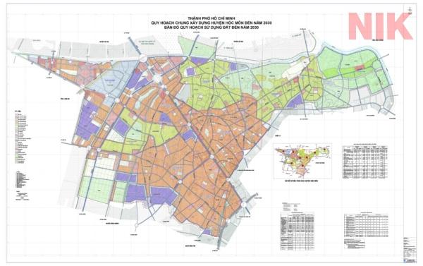 Bản đồ quy hoạch chi tiết huyện hóc môn đất chưa sử dụng