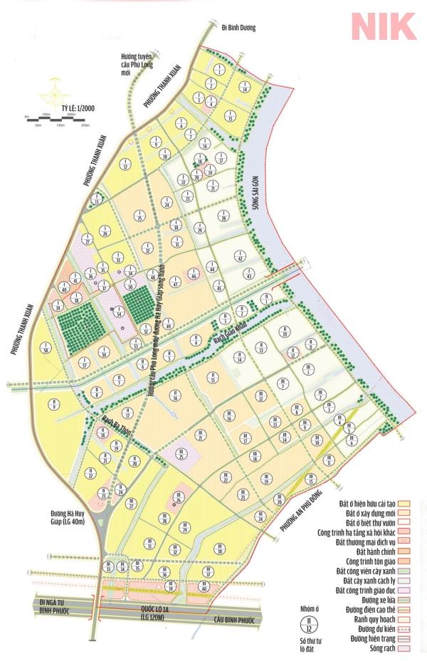 Bản đồ quy hoạch chi tiết phường Thạnh Lộc quận 12