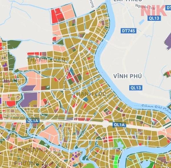 Bản đồ quy hoạch giao thông Thạnh Lộc phận 12