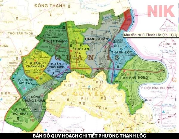 Bản đồ quy hoạch chi tiết phường thạnh lộc
