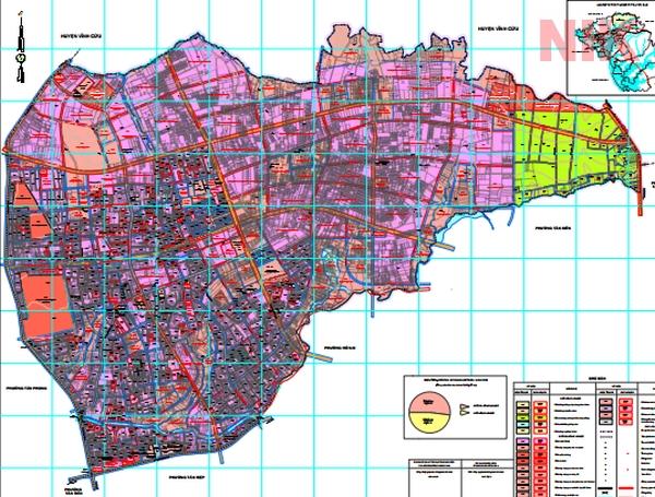 Bản đồ quy hoạch chi tiết phường Trảng Dài, Biên Hòa tới năm 2030