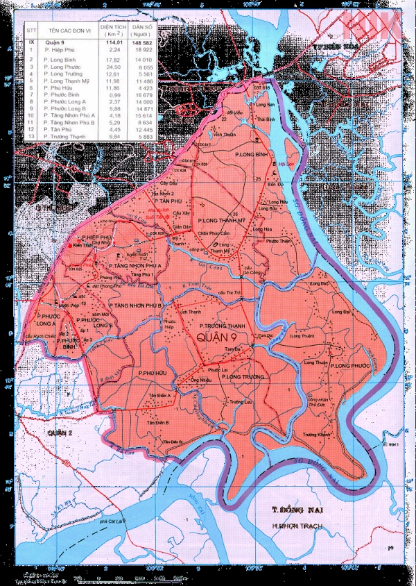 Bản đồ giao thông tại quận 9