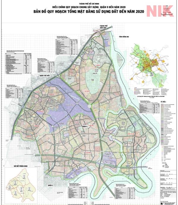 Điều chỉnh bản quy hoạch sử dụng đất quận 9 đến năm 2020
