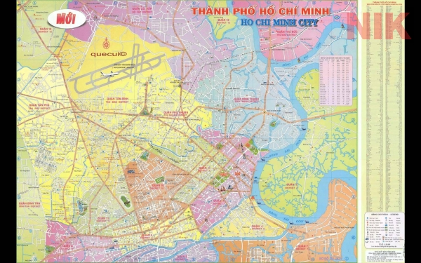Bản đồ du lịch quận 9