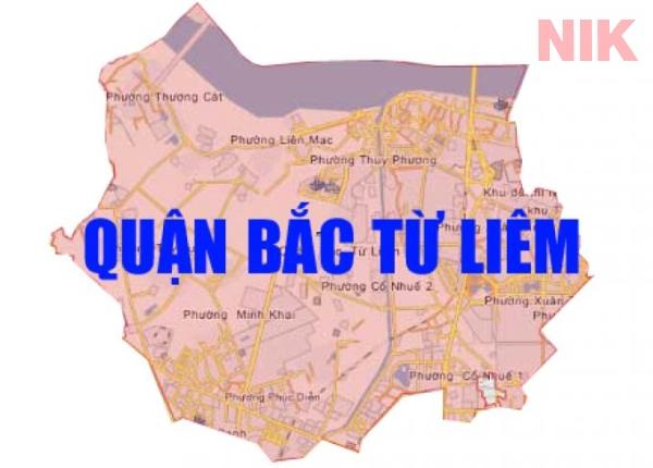 Bản đồ chi tiết quận Bắc Từ Liêm