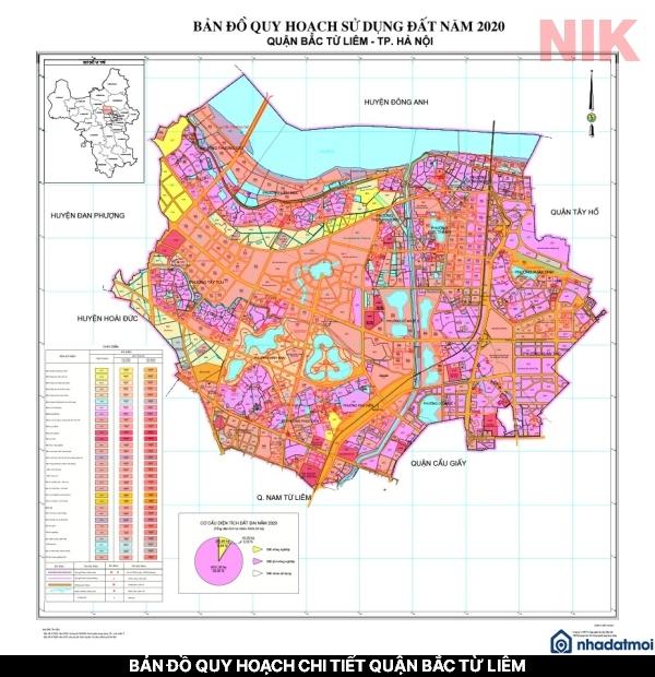 Bản đồ quy hoạch chi tiết quận Bắc Từ Liêm