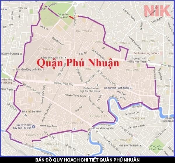 Bản đồ quy hoạch chi tiết quận Phú Nhuận, TPHCM