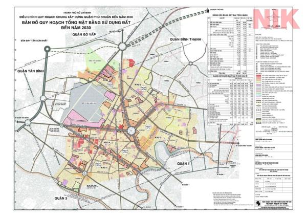 Bản đồ quy hoạch chi tiết quận phú nhuận về sử dụng đất