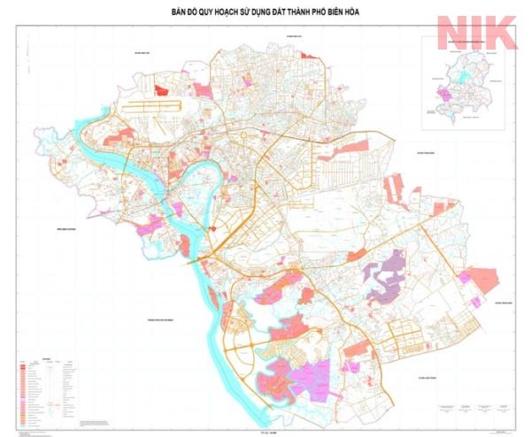 Bản đồ quy hoạch chi tiết thành phố biên hòa
