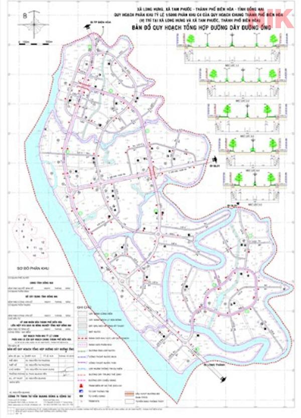 Bản đồ về đường dây, đường ống tại Biên Hòa