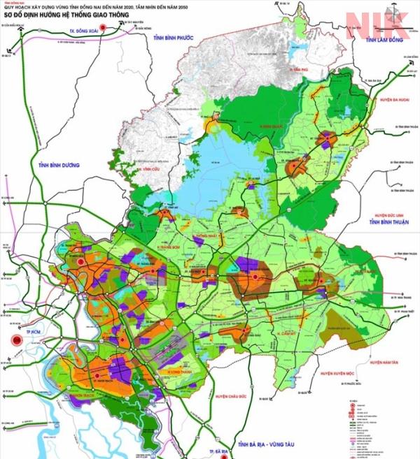 Bản đồ quy hoạch chi tiết thành phố biên hòa về giao thông