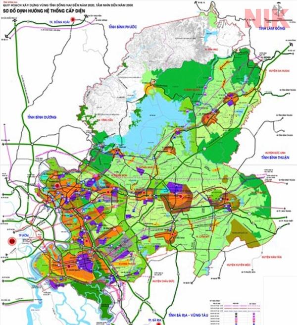 Sơ đồ định hướng hệ thống cấp điện tại Biên Hòa