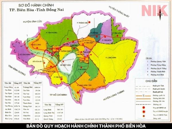 Bản đồ hành chính thành phố Đồng Nai