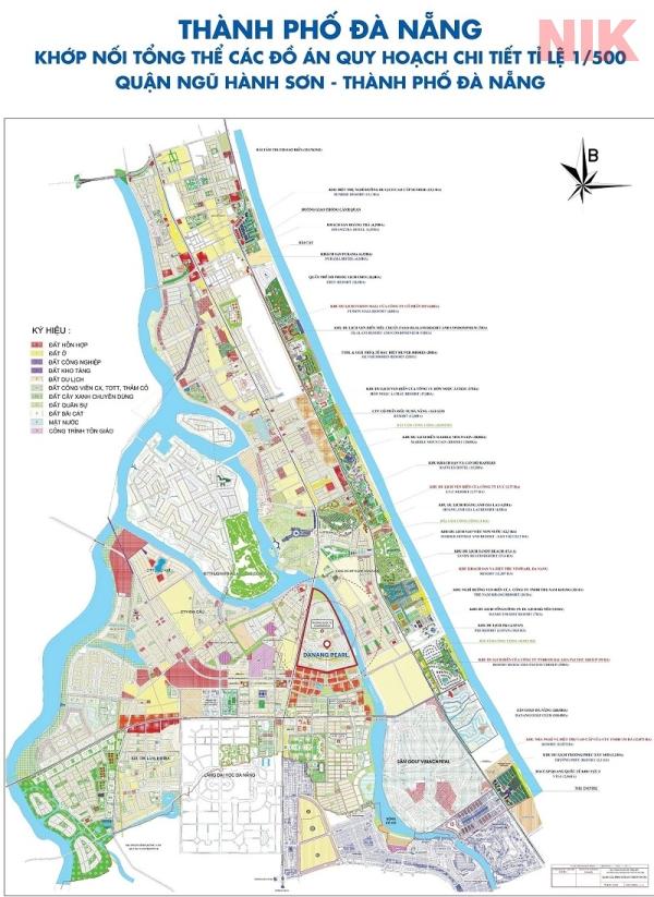 Bản đồ quy hoạch chi tiết thành phố Đà Nẵng, quận Ngũ Hành Sơn
