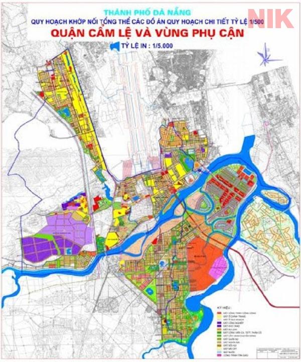 Bản đồ quy hoạch chi tiết thành phố Đà Nẵng, quận Cẩm Lệ