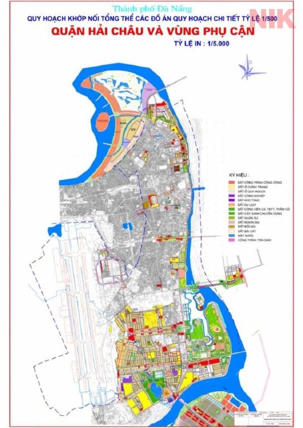 Bản đồ quy hoạch chi tiết thành phố Đà Nẵng quận Hải Châu
