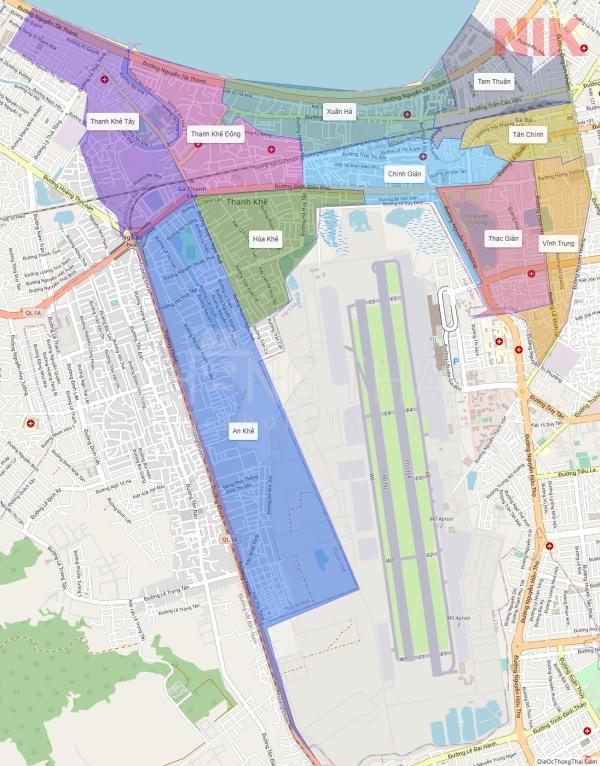 Bản đồ quy hoạch chi tiết thành phố Đà Nẵng quận Thanh Khê