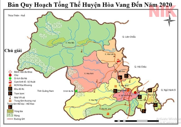 Bản đồ quy hoạch chi tiết thành phố Đà Nẵng huyện Hòa Vang