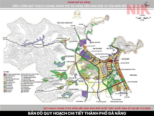 Bản đồ quy hoạch chi tiết thành phố Đà Nẵng