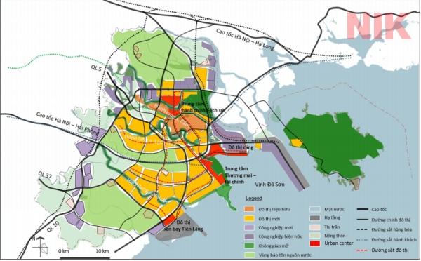 Bản đồ quy hoạch chi tiết thành phố Hải Phòng về giao thông