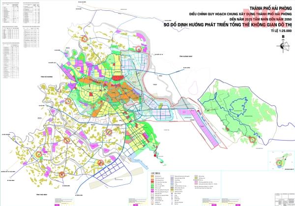 Bản đồ quy hoạch chi tiết thành phố Hải Phòng tới 2025