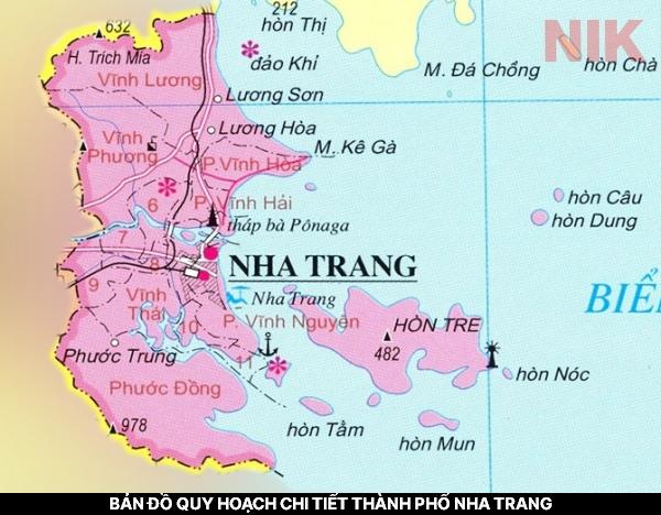 Bản đồ quy hoạch chi tiết thành phố Nha Trang - Thành phố biển với nhiều thế mạnh