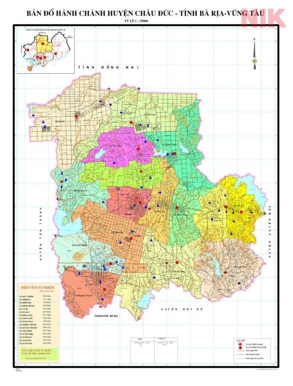 Bản đồ hành chính huyện Châu Đức