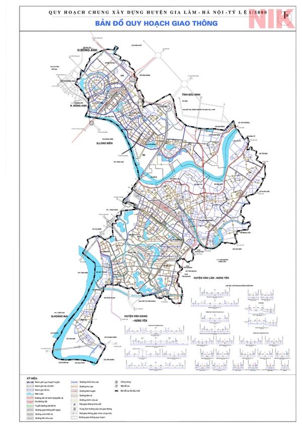 Bản đồ quy hoạch sử dụng đất Hà Nội tại Gia Lâm