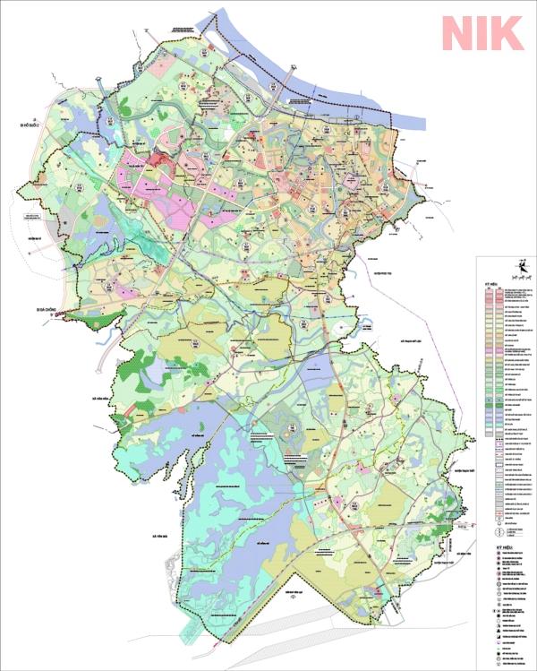 Bản đồ quy hoạch sử dụng đất Hà Nội tại Sơn Tây