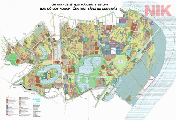 Bản đồ quy hoạch sử dụng đất Hà Nội tại Hoàng Mai