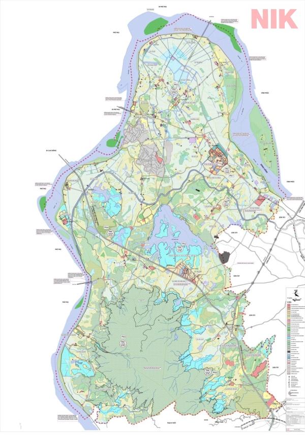 Bản đồ quy hoạch sử dụng đất Hà Nội tại Ba Vì