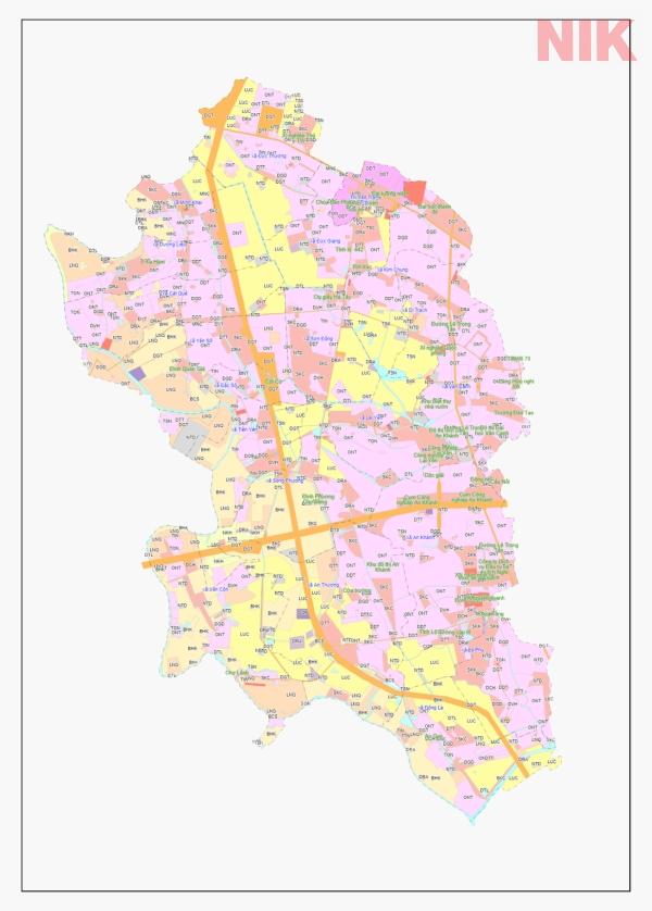 Bản đồ quy hoạch sử dụng đất Hà Nội tại Hoài Đức