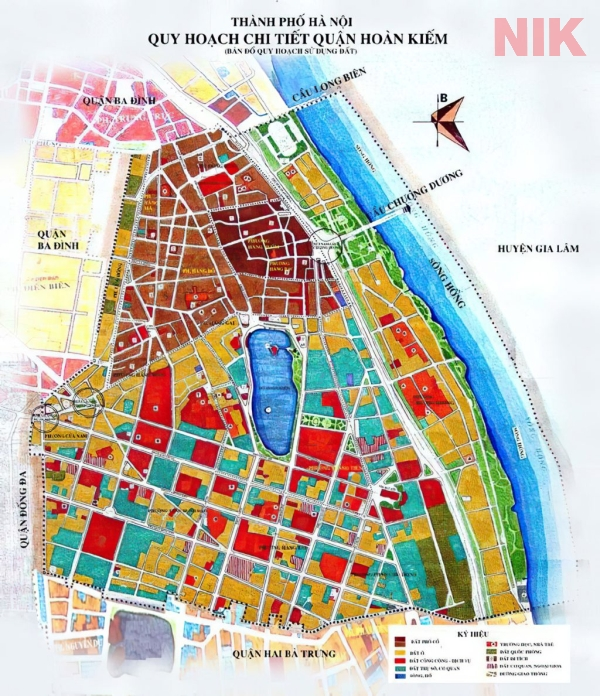 Bản đồ quy hoạch sử dụng đất Hà Nội tại Hoàn Kiếm