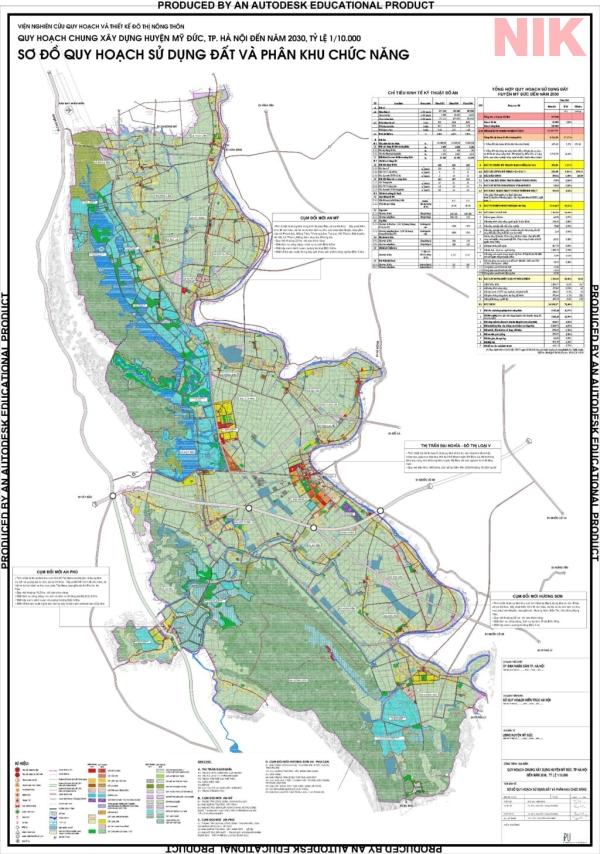 Bản đồ quy hoạch sử dụng đất Hà Nội tại Mỹ Đức