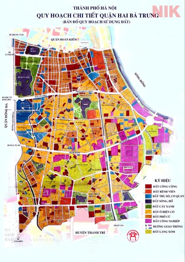 Bản đồ quy hoạch sử dụng đất Hà Nội tại Hai Bà Trưng