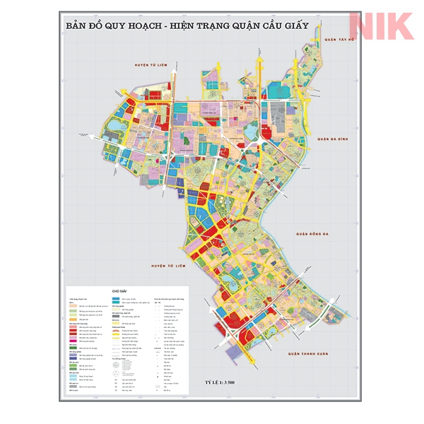 Bản đồ quy hoạch sử dụng đất Hà Nội tại Cầu Giấy