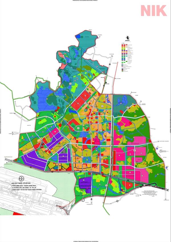 Bản đồ quy hoạch sử dụng đất Hà Nội tại Sóc Sơn