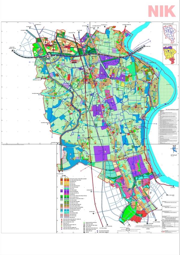 Bản đồ quy hoạch sử dụng đất Hà Nội tại Thường Tín