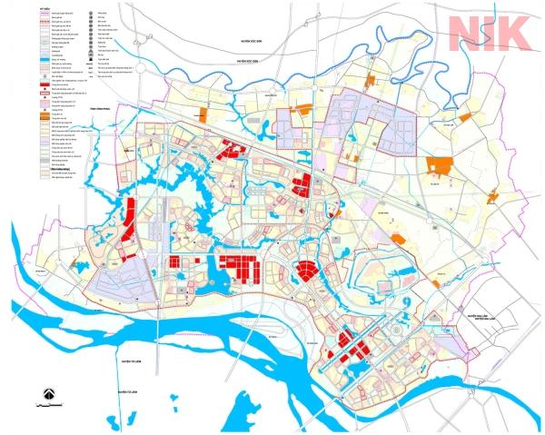 Bản đồ quy hoạch sử dụng đất Hà Nội tại Đông Anh