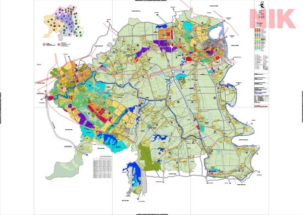 Bản đồ quy hoạch sử dụng đất Hà Nội tại Chương Mỹ