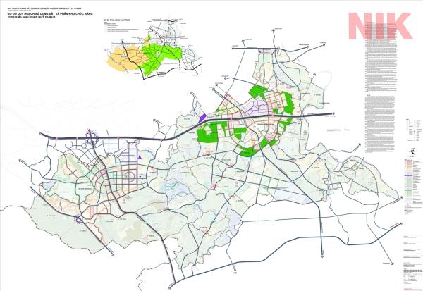 Bản đồ quy hoạch sử dụng đất Hà Nội tại Quốc Oai