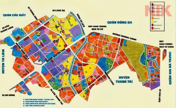 Bản đồ quy hoạch sử dụng đất Hà Nội tại Thanh Xuân