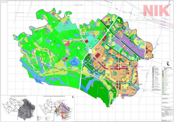 Bản đồ quy hoạch sử dụng đất Hà Nội tại Mê Linh