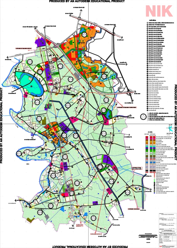 Bản đồ quy hoạch sử dụng đất Hà Nội tại Thanh Oai