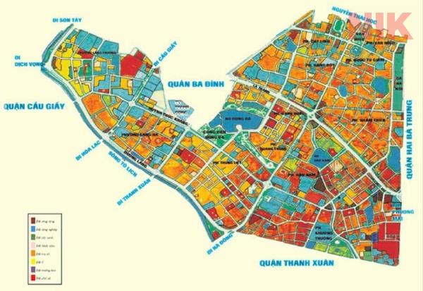 Bản đồ quy hoạch sử dụng đất Hà Nội tại Đống Đa